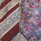 BILL BLASS NECK WEAR 2~TIES  STRIPE AND PAISLEY  Silk