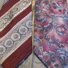 BILL BLASS NECK WEAR 2~TIES  STRIPE AND PAISLEY  Silk
