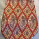 NORDSTROM HAND SEWN IN ITALY SILK Burgundy Gold Paisley Tie EXCELLENT TIE