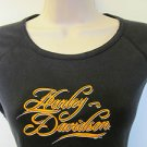 HARLEY DAVIDSON Size Medium Black Sleeveless VAN NUYS CALIF Raised Lettering