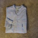 GUESS PLAID SHIRT WITH NEHRU COLLAR  EXCELLENT PRE-OWNED CONDITION LARGE