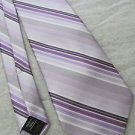 PAUL DIONE TIE SILK PURPLE SILVER GRAY BLACK  BEAUTIFUL!!!!!!