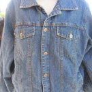 HURLEY DENIM JACKET FAUX FUR LINED Large VGC Washable WINTER COAT