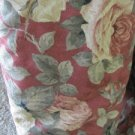 FABRIC Richloom Rust Olive Roses Floral Print by the yard Pillow  Drapery