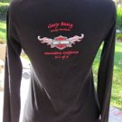 HARLEY DAVIDSON KNIT TOP XL BLACK Long Sleeve Atascadero VGC