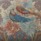 FABRICS P Kaufman Stain Resistant Birds Floral Pattern Teals Tan Rust Blue Green