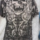 XTREME COUTURE TEE Mens Skull Rose BLACK NEW Large Cotton