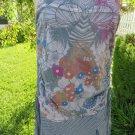 SKINNY MINNIE Dress MEDIUM GRAY PURPLE Summer BOHO Drop Waist Beach Wear   NEW