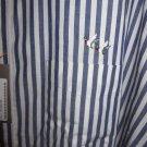 CREEKWOOD 4X BLUE WHITE STRIPE NWT Woven Dress Casual Long Sleeve