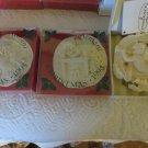 Giuseppe Armani Christmas Ornaments 1995 1996 2001 Set of 3 NIB