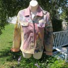 ANNE ELISABETH JEAN'S Jacket Paris Scenic Romantic Funky Fun S/M EUC  in PINKS