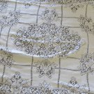 VINTAGE LACE TABLE CLOTH IVORY Beautiful 51 x  66