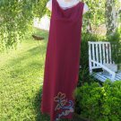 M KALAN DAY DRESS Large Burgundy Armoire Saks Fifth $390.00 Mesh Lined