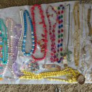 VINTAGE FASHION NECKLACES MISC LOT Costume Watches Bracelets Earrings 43 +
