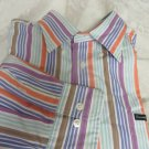 FALCONABLE CLASSIQUE SHIRT XL Multi Stripe Long Sleeve Pocket Stunning