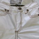 UKNITED ROYAL White Brown Contrast Stitch Jeans 4 way stretch SIZE 4 EUC