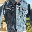 LEVIS LEVI STRAUSS Size 5 DENIM Trucker  JACKET Excellent Condition RED TAB