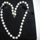 "PJS PEARL Necklace 14K  CLASP 18"" Long Excellent Luster Jewerly"