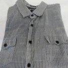 BKE BUCKLE Slim Fit XL Stripe Gray Western Yoke Shirt VGC