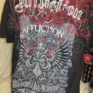 AFFLICTION TEE Georges St Pierre RUSH Signature Series 2xl The Last Emperor