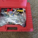 LEGO LOT Case People Wheels Weapons Flowers Flags MISC