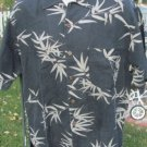 TOMMY BAHAMA SILK CAMP SHIRT Gray Tropical VGC