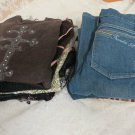 WOMENS MIXED CLOTHING LOT GUESS Frankie B  Lucky Brand Tesori JEANS TOPS BANANA!