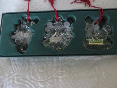 WATERFORD MARQUIS 12 Days Of Christmas  Crystal Partridge Turtle Dove French Hen