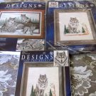 NATURES WINDOW WOLFS COUNTED CROSS STITCH 3 KITS 5211 5411 5404 Designs Needle