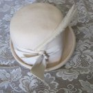 VINTAGE UNION MADE HAT Ribbon Feather WOOL Glamour Felts Terry Sales Corp NY