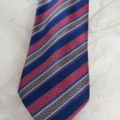 JZ RICHARDS TIE Pink Blue Taupe Silk Hand made USA BEAUTY