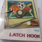 WONDER ART LATCH HOOK Sports 4268 Football Soccer Baseball Basketball