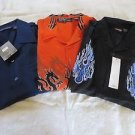 NEW DRAGONFLY SHIRTS XL Button Down Lot of 3  Various  Orange Blue Black