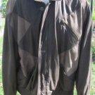 BRUNO MAGLI LEATHER Jacket Argyle Diamonds Patch Brown  MEDIUM Bomber Dress Coat