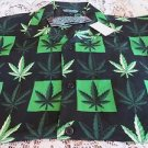 SILVER POINT  CANNIBAS MARIJUANA LEAF SHIRT CAMP NOVELTY NEW Medium