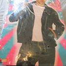GREASER JACKET 50'S FORUM novelties LARGE Black 61701 Biker Gangster COSTUME