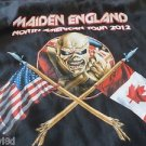 IRON MAIDEN England TEE CONCERT 2012 Womens/small mans/Youth Black Skelton