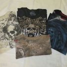 AFFLICTION TEE  LOT 4 Shirts Flawed/Repaired/Beaters 2XL Shirts Bamboo Red Label