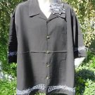 DRAGONFLY SHIRT WEB SERIES XXXL 3XL  WEBBINGS  BLACK W/ EMBROIDERED DETAILS NWT