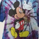 DISNEY MICKEY UNLIMITED TEE SHIRT LARGE Tie Dye Multi Color Mickey Mouse