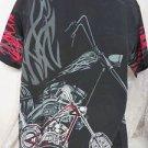 DRAGONFLY SHIRT Chopper Flames Motor NEW Biker Bowl Rock Roll Bowl Medium