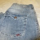 1921 WESTERN GLOVE WORKS SURPLUS CAPRI  Shorts Denim size 28 Denim Walking