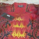 DRAGONFLY SHIRT 7th GATE Biker Bowl Rock Golf NWT Medium  BEAUTY PG672 Dragon
