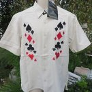 DRAGONFLY Rock HOUSE LOST ANGELES Classic Cards Poker Club  NWT M/L