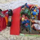 HE MAN MASTER OF THE UNIVERSE Mattel Case Figurines LOT Bashasauras LEECH HEMAN