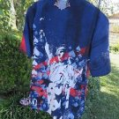 DRAGONFLY SHIRT ROADHOUSE Liberty PG917 Statue XL USA BUTTONS Patriotic NWT