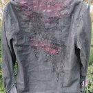 FENDER ROCK & ROLL SHIRT LARGE Black Cotton Embroirdered Studded Long Sleeve Pkt