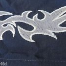 DRAGONFLY SHIRT SHRED XXXXL 4XL NAVY White Embroidered  NEW  Button Front