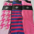 BEVERLY HILLS POLO CLUB SOCKS Women's Various Stripe KNEE socks size 4-9 3 pair