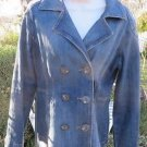 CABI Jeans JACKET BLAZER DENIM Double Breasted MEDIUM Coat Layer